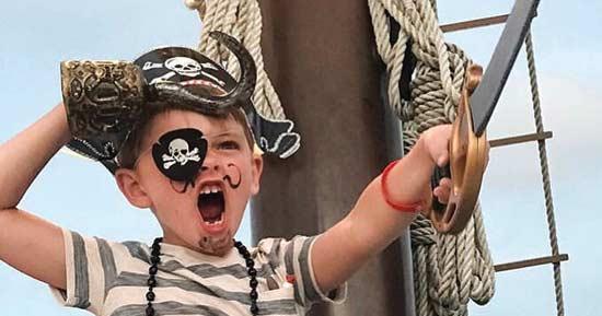 Kids love The Sea Dragon Pirate Ship in Panama City Beach!