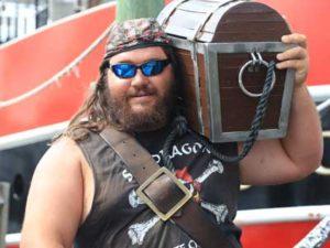 Mudshark is a crew member of the Pirate Cruise in Panama City Beach
